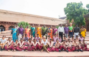 NCLP Tirunelveli STC Children inside Agra Fort