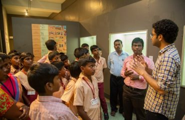 NCLP Tirunelveli STC Children is being explained by the guide about the Indian civilization in national museum newdelhi