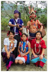 Youths in traditional dress