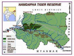 Namdapha Map