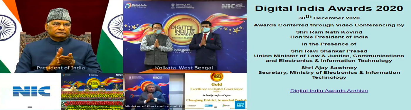 Changlang district bagged Gold in Digital India 2020