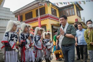 CM visits to Choephelling the Tibetan settlement camp Miao