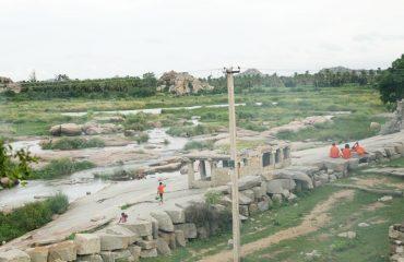 ಚಿಂತಮಣಿ ದೇವಸ್ಥಾನ ಆನೆಗುಂದಿ  ನದಿಭಾಗದ ನೋಟ