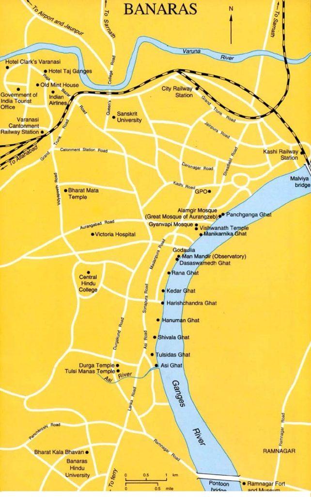 वाराणसी मानचित्र