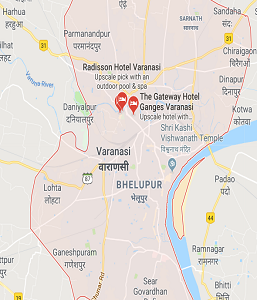 Map of Varanasi District