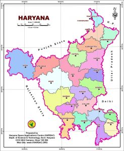 Map of Haryana