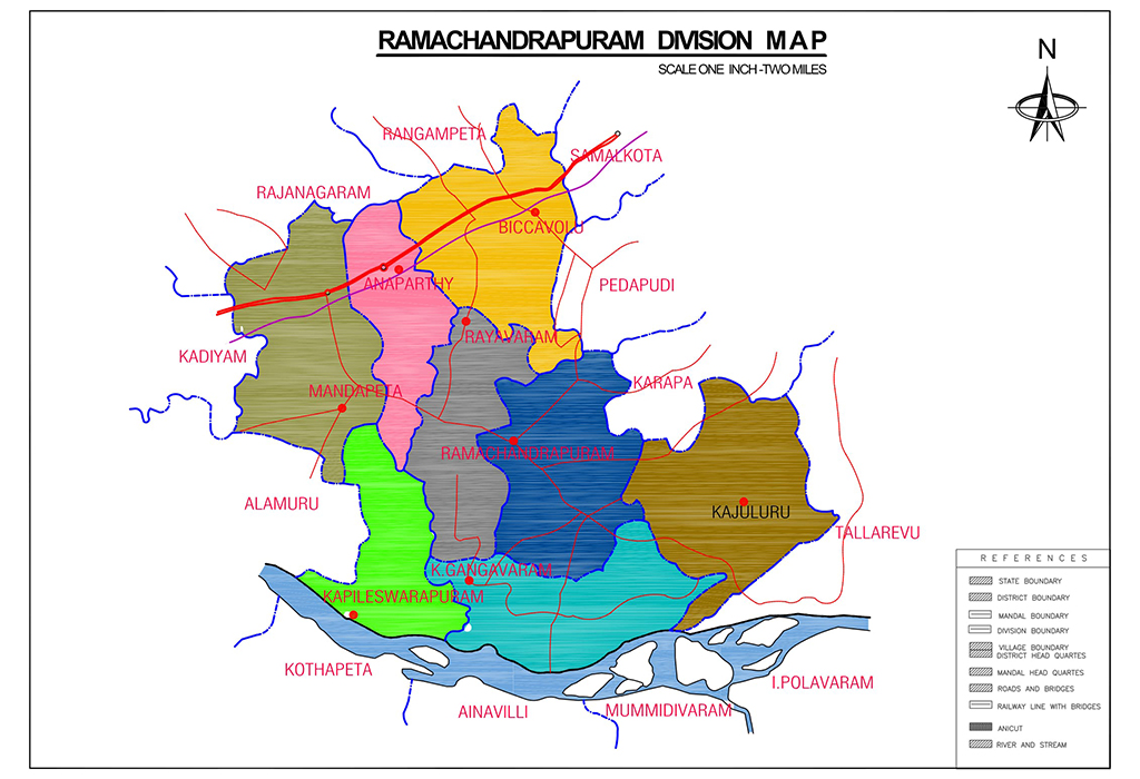 Ramachandrapuram Division Map