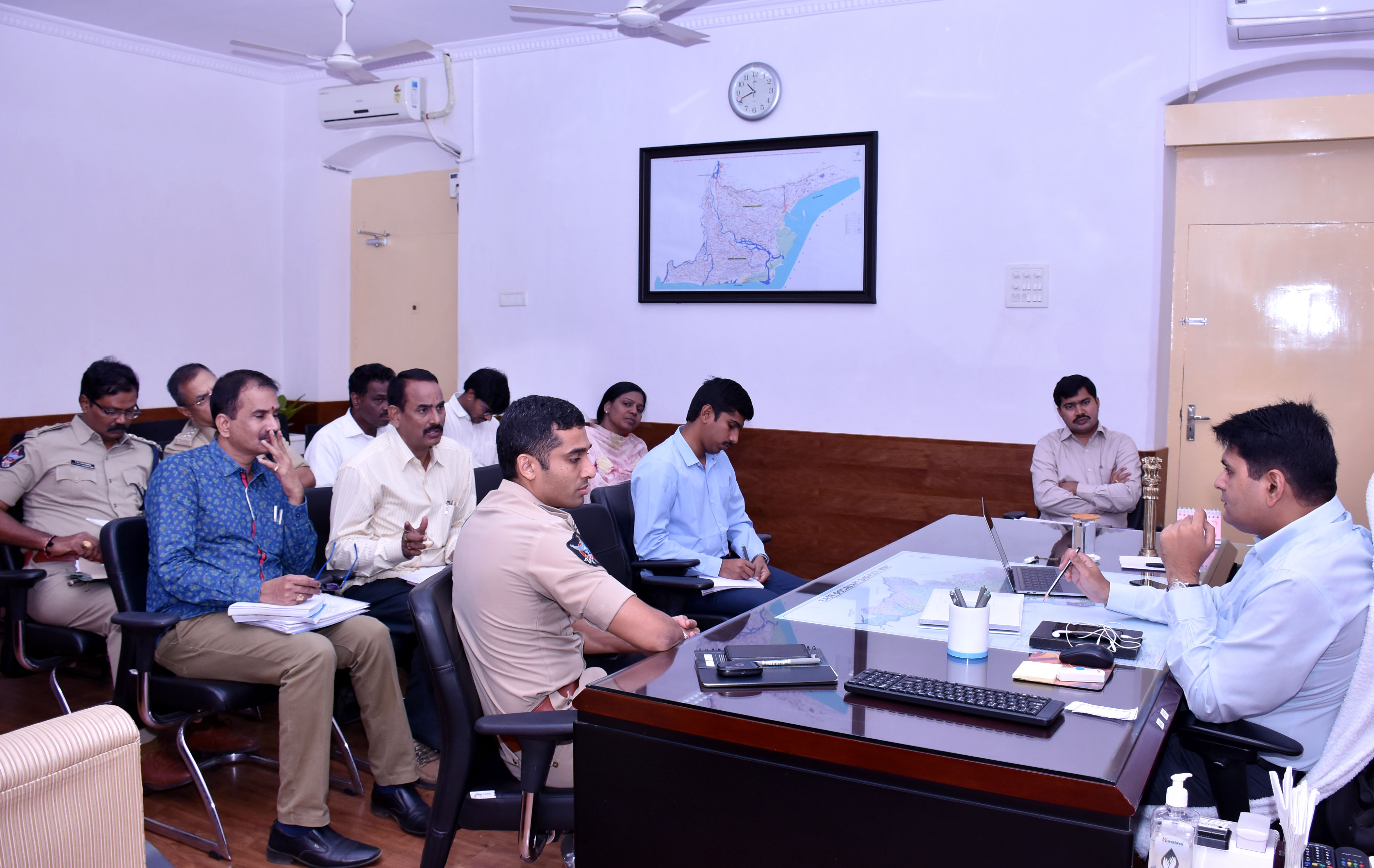 Superintendent of Police review on CM visit arrangements at Collectorate, kakinad on 21-11-2017