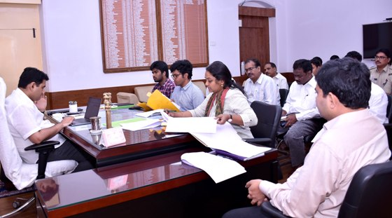 Collector conducted review meeting on Road safety at collectorate Kakinada