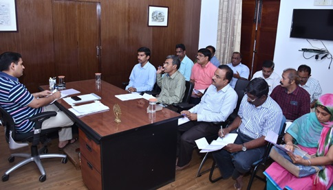 District Collector conducted review meeting on IICT with Convergence Officers at Collector Camp office, kakinada