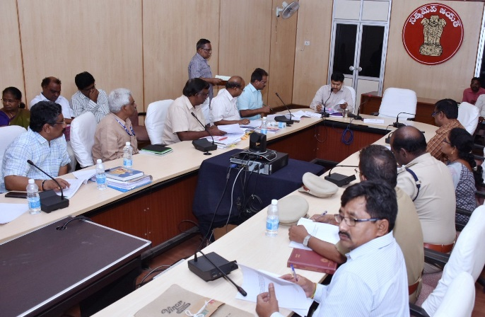 Joint Collector Dr. A Mallikarjuna conducted review meeting on DIPC and Urban Housing at Collector Office Kakinada