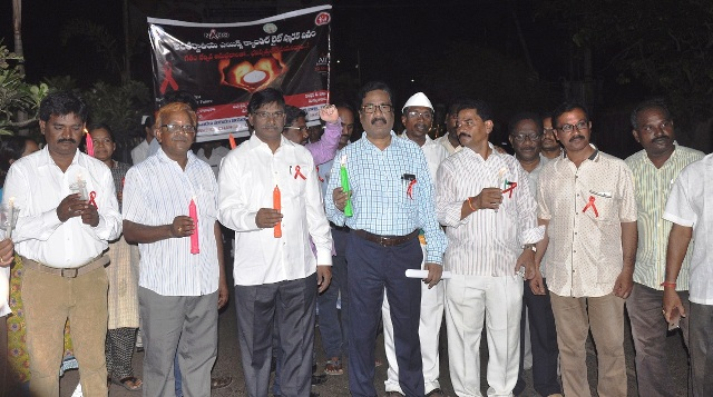 DM & HO conducted International Aids candle day rally photos