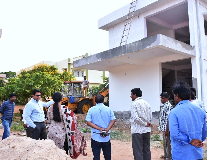 District Collector Inspected Kakinada Smart City Works at kakinada