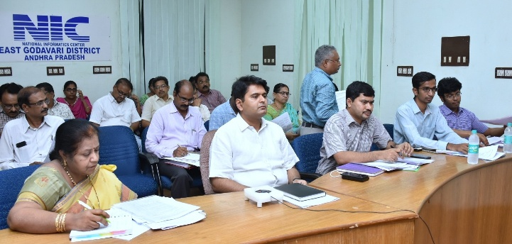 Chief Electoral Officer conudcted state wide video conference on SSR-2019, EVMS and other issues related to Summary Revision through NIC-Video Conferencing Facility on 30-05-2018. District Collector, Joint Collector, Sub-Collectors and other EROs