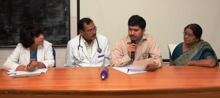 Joint Collector Dr. A. Mallikarjun visisted Government General Hospital