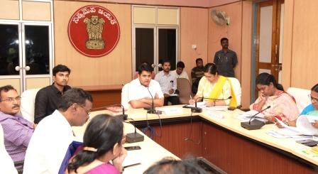 District Collector conducted review meeting