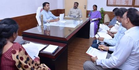 District Collector conducted review meeting with Kakinada Smart City Corporation Limited Officials at Collectorate Kakinad