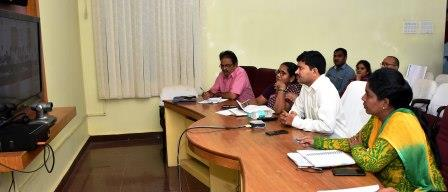 Joint Collector, Kakinada Municipal Commissioner and BC Corporation Exective Director participated in Adarana - 2 Video Conference conducted by Principal secretary