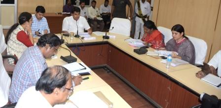 On 23-07-2018 District Collector conducted review meeting with Bankers. Joint Collector, Lead District Manager and Other