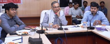 One man Commission Sri J.C. Sharma IAS(Retd.) conducted review meeting with Joint Collector, Sub Collectors and District officers at Collectorate