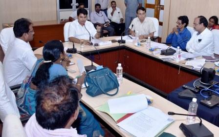 District Collector conducted meeting with Industries representatives, labour organisation representatives on welfare of Industrial Labour at collectorate, kakinada on 24-8-2018.