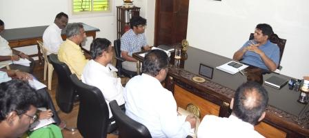 On 26-08-2018 District Collector conducted review meeting on Honourable Chief Minister visit arrangements.