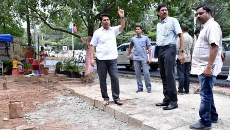 District Collector inspected Chief Minister's programme areas at Kakinada on 27-08-2018.
