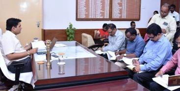 District Collector conducted review meeting with DRDA and MEPMA officers at Collectorate kakinada on 28-8-2018