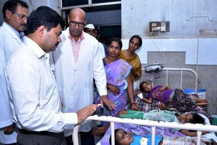 Joint Collector visited and Inspected Government General Hospital, Kakinada on 31-08-2018,.