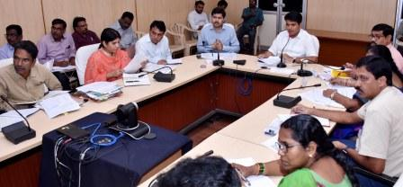 District Collector conducted review meeting on Disha and honourable Chief Minister visit programme arrangements at collectorate, Kakinada on 04-09-2018.