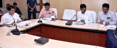 District Collector conducted review meeting with Education Department Officials at collectorate, Kakinada on 04-09-2018