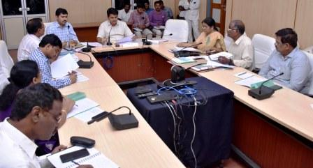 District Collector conducted review meeting on Hospital Development Society with Government General Hospital Officials and Ranga Raya Medical College Officials at Collector Office, Kakinada on 05-09-2018.