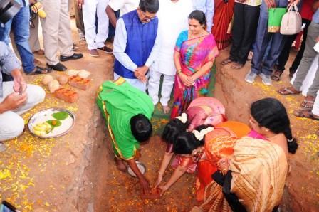 Member of Parliment, Rajamahendravaram Mr. M. Murali Mohan laid foundation stone on 07-09-2018 for Post Graduate Block at Homeopathy College, Rajamahendravaram.