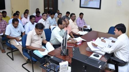 Joint Collector conducted review meeting on DIPC at Collectorate kakinada on 10-09-2018.Joint Collector conducted review meeting on DIPC at Collectorate kakinada on 10-09-2018.