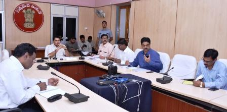 District Collector conducted review meeting on Education and DRDA at Collectorate kakinada on 25-09-2018.