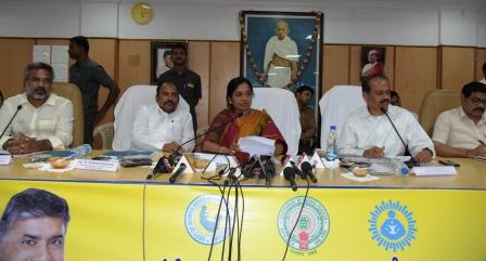 On 26-09-2018 Women Empowerment Minister conducted review meeting at Zilla Parishad meeting hall, Kakinada.