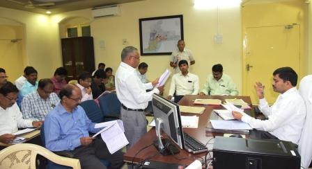 Joint Collector conducted review meeting on Medical Waste Management at collectorate kakinada on 02-11-2018.