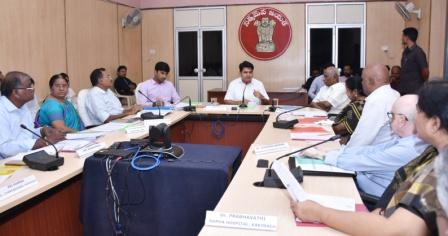 District Collector conducted meeting with Hospital Development Society Members at Collectorate Kakinada on 06-11-2018.