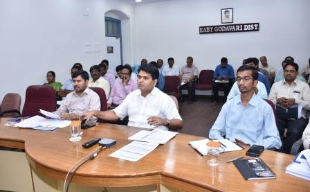 District Collector, Joint Collector, Joint Collector-2, DRO and other officers participated in Chief Secretary Video Conference from Collectorate, Kakinada on 08-11-2018.