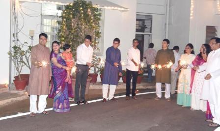 Deepavali celebrations at District Collector's Camp Office on 08-11-2018.
