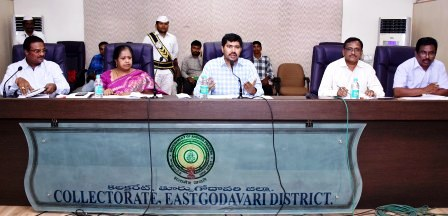 Joint Collector conducted Divisional Revenue Officers review meeting with Peddapuram Division Revenue Officers at Vidhana gowthami, Kakinada on 14-11-2018.
