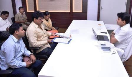 District Collector conducted meeting with District Manager NREDCAP and RTA Officers at Collectorate kakinada on 15-11-2018.