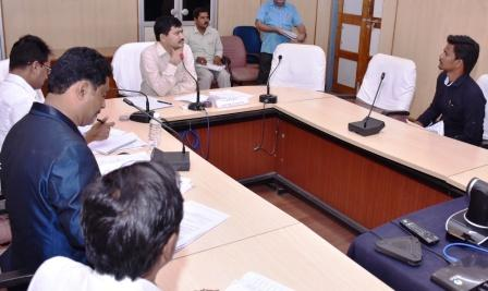 Joint Collector conducted Interviews to SC, ST Students who obtained B.Tech or Diploma at Collectorate kakinada.