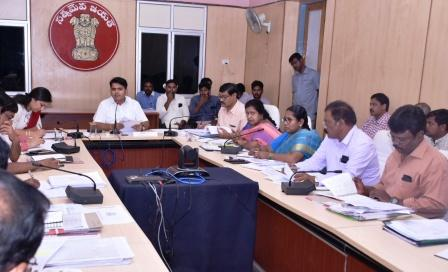 District collector condcted Mandal Level video conference on NREGS Convergence, Rural Housing, Aadharana, Pedarikam Pai Gelupu 2nd phase in December with District Officers and with Project Officers ITDA, Sub Collectors, Revenue Divsional Officers, all MPDOs, Tahsildars from Collectorate kakinada on 19-11-2018.