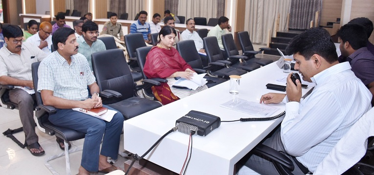 On 16-12-2018 District Collector conudcted set conference on Phethai Cyclone with District officers from Collectorate kakinada .
