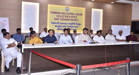 Honourable Chief Minister conudcted press meet at Collectorate, Kakinada on 18-2-2018.