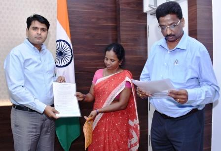 On 24-12-2018 District Collector distributed Cheques to SC Corporations beneficiary under District Initiative Program at Collectorate Kakinada .