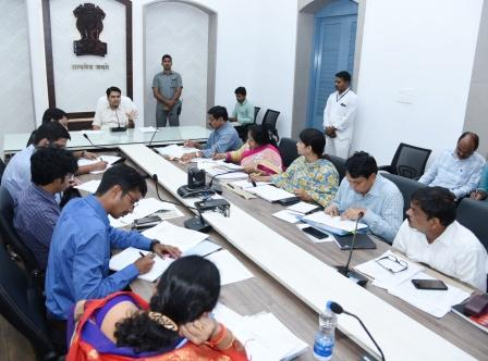 On 18-01-2019 District Collector and District Election Officer conducted review meeting on Minimum Facilities at Polling stations with EROs at Collectorate Kakinada
