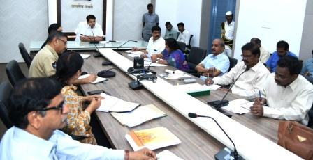 District Collector conducted review meeting with All District officers on Republic day arrangements at Collectorate kakinada on 19-01-2019.
