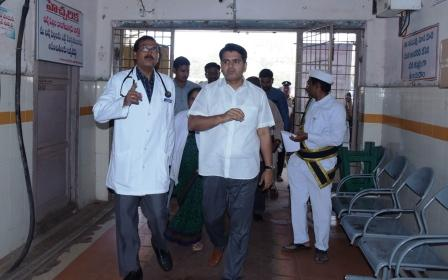 District Collector visited Government General Hospital, Kakinada on 20-01-2019.